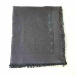 Louis Vuitton Monogram Charcoal Gray Scarf Shawl